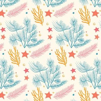 Patrón de coral colorido