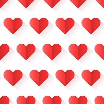 Patrón de corazón con forma creativa en estilo geométrico.