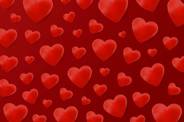 Patrón de corazón realista para decoración y revestimiento.