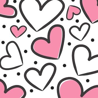 Patrón de corazón de san valentín