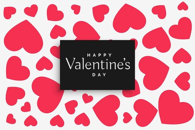 Patrón de corazones de color rosa para el día de san valentín