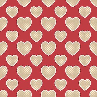 Patrón de corazones de colores con forma geométrica. fondo del día de san valentín para la plantilla de vacaciones. ilustración de estilo creativo y de lujo.