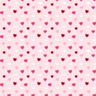 Patrón de corazones sin fisuras para el día de san valentín