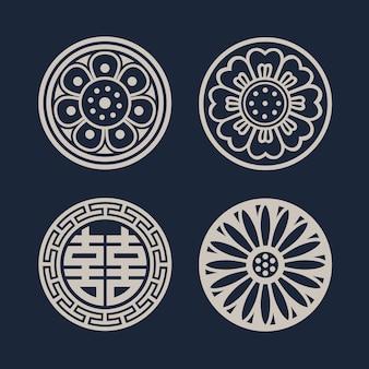 Patrón coreano, fondo oriental