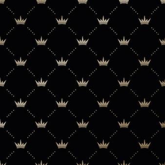 Patrón de coronas rey perfecta