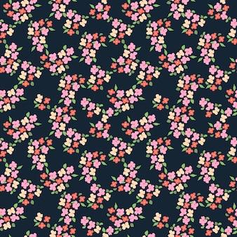 Patrón sin costuras abstracto floral