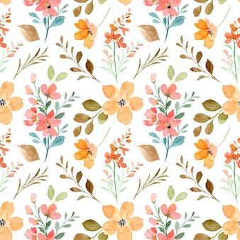 Patrón sin costuras acuarela floral salvaje