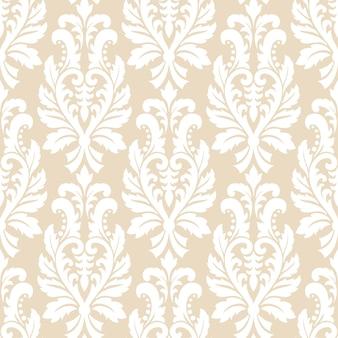 Patrón sin costuras de adorno de damasco antiguo de lujo clásico