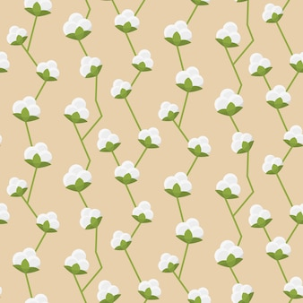 Patrón sin costuras de algodón