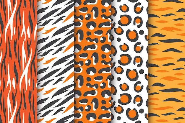 Patrón sin costuras animal print color pastel