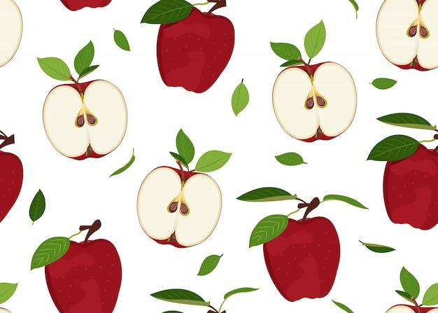 Patrón sin costuras de apple