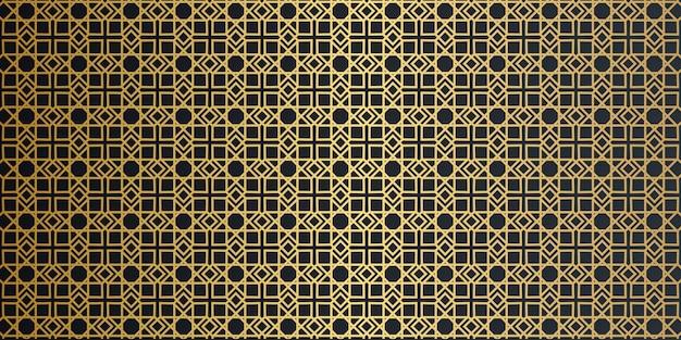 Patrón sin costuras arabesco geométrico