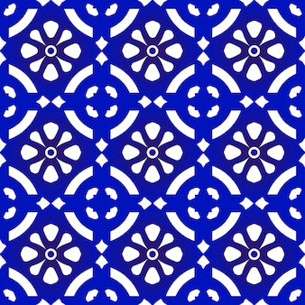 Patrón sin costuras azul y blanco