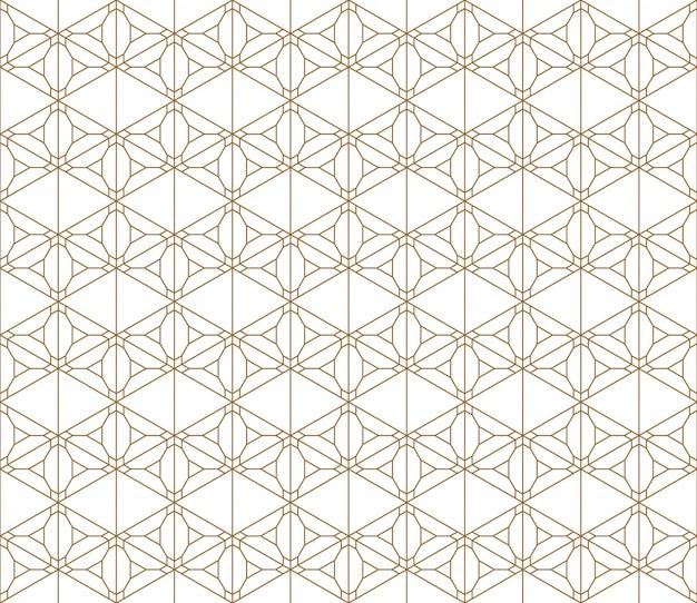 Patrón sin costuras basado en adornos japoneses kumiko