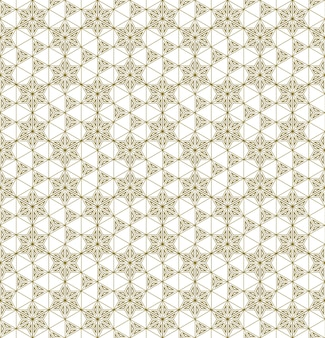 Un patrón sin costuras basado en elementos de la artesanía tradicional japonesa kumiko zaiku.