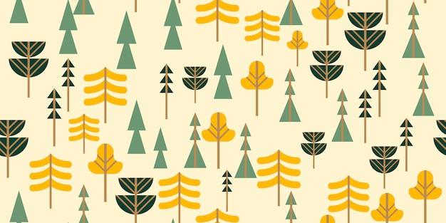 Patrón sin costuras bosque