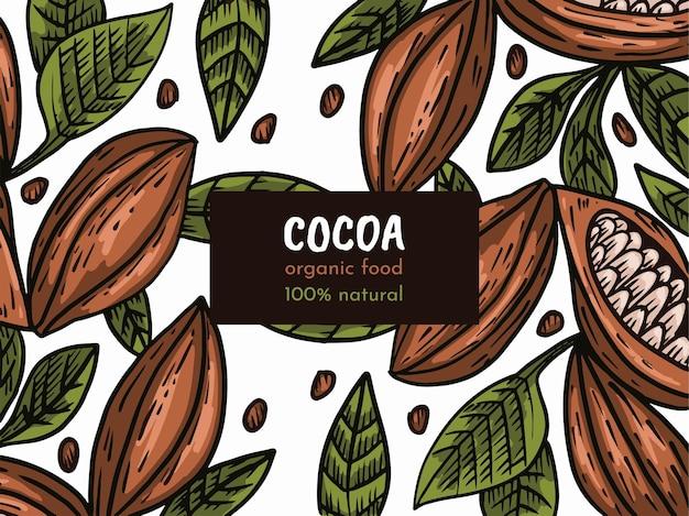 Patrón sin costuras de cacao