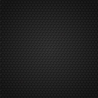 Patrón sin costuras de carbono negro