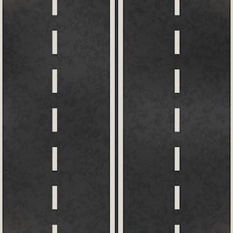 Patrón sin costuras de carretera realista