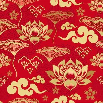 Patrón sin costuras chino