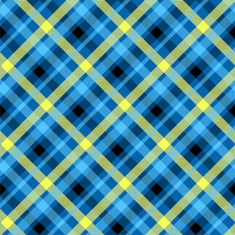 Patrón sin costuras de color azul tartán
