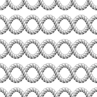 Patrón sin costuras de cuerda, papel tapiz de moda. tejer o red de pesca macro detallada ilustración sin fin.