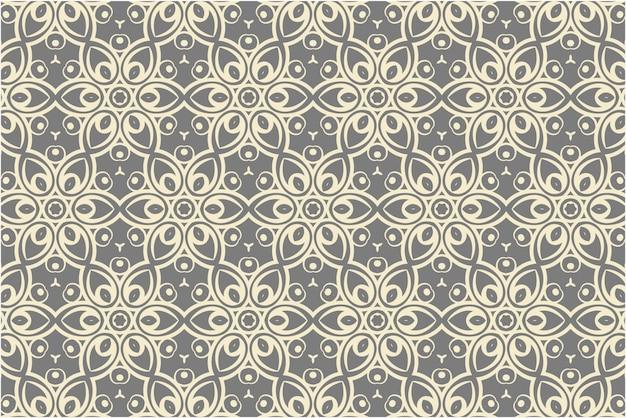 Patrón sin costuras damasco decorativo