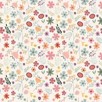 Patrón sin costuras decorativo floral
