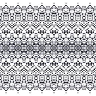 Patrón sin costuras dibujado a mano . islam, árabe