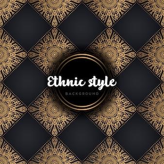 Patrón sin costuras de diseño étnico de lujo