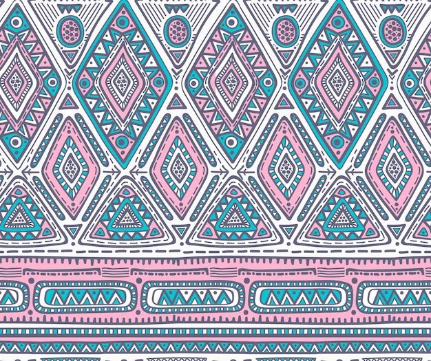 Patrón sin costuras para diseño tribal