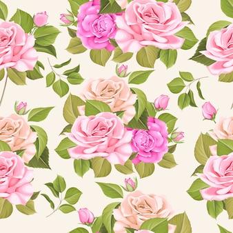 Patrón sin costuras con elegante floral