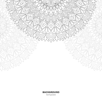 Patrón sin costuras. elemento decorativo de mandala.