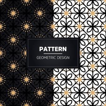 Patrón sin costuras. elementos decorativos vintage. adornos dorados dibujados a mano.