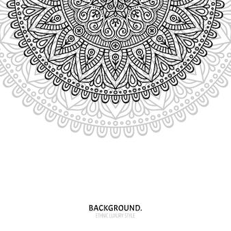 Patrón sin costuras. elementos decorativos vintage. fondo dibujado a mano