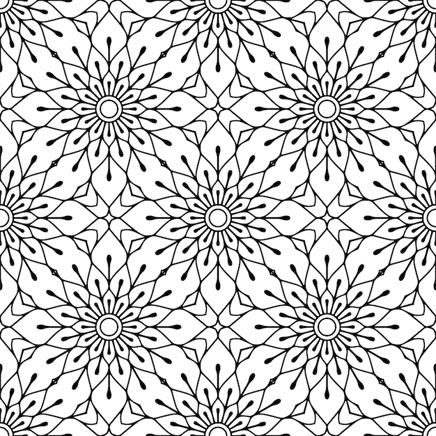 Patrón sin costuras elementos decorativos vintage