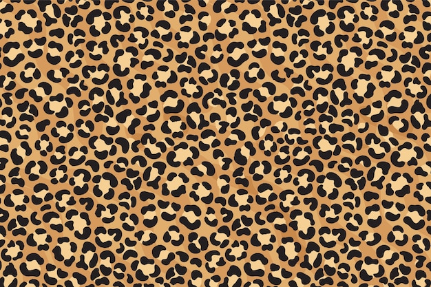 Patrón sin costuras con estampado de leopardo. piel de guepardo. huella animal.