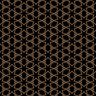 Patrón sin costuras en estilo árabe con estrellas