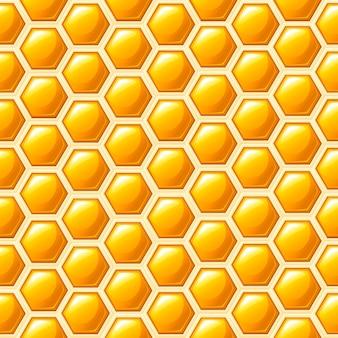 Patrón sin costuras. estilo de panal. ilustración. patrón abstracto médico, producto natural de miel