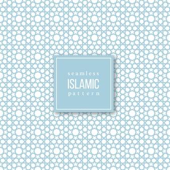 Patrón sin costuras en estilo tradicional islámico. colores azul y blanco. ilustración.
