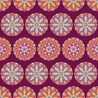Patrón sin costuras floral étnico