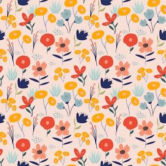 Patrón sin costuras floral moderno