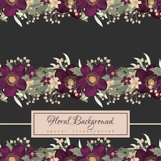 Patrón sin costuras floral púrpura
