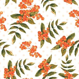 Patrón sin costuras floral vintage