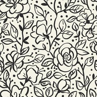 Patrón sin costuras de flores con rosas.