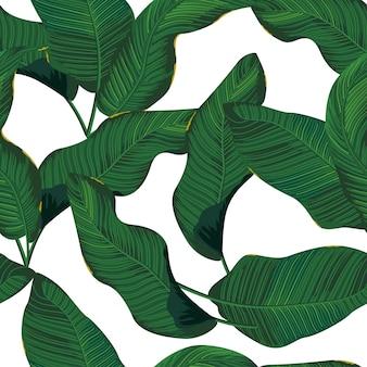 Patrón sin costuras de flores tropicales