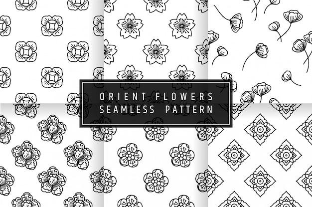 Patrón sin costuras de flores