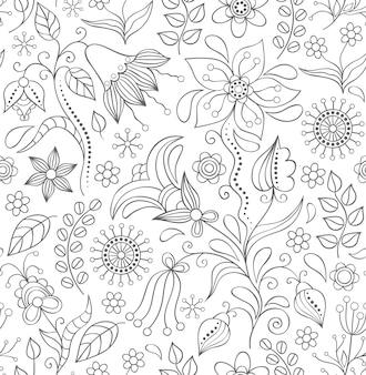 Patrón sin costuras con flores