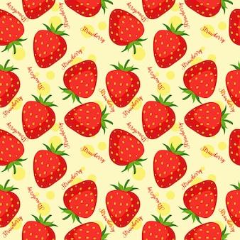 Patrón sin costuras de fresa
