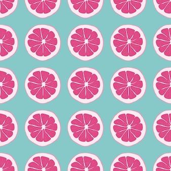 Patrón sin costuras de fruta con naranja.